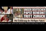 Papa Benedetto XVI si Dimette! Evento Storico