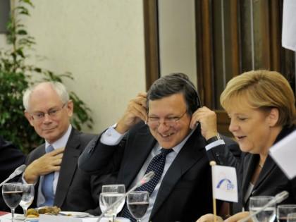 van Rompuy -  Barroso - Merkel