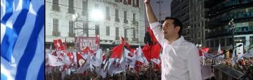 Grecia - Boom di voti per gli Euroscettici di Syriza - Alexis Tsipras festeggia la sconfitta  di misura e lancia un chiaro Messaggio all'Ue dei Tecnocrati e del Rigore