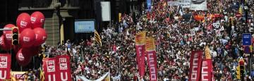 Madrid - Proteste per gli Aiuti alle Banche e contro il Governo di Mariano Rajoy