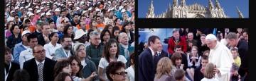Milano - Benedetto XVI con gli sposi nella VII Giornata Mondiale della Famiglia