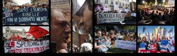 Proteste in tutta Europa contro l'Ue e l'Austerity