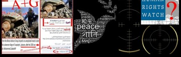 Syria, white Dove of Peace in the viewfinder
