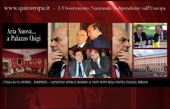 Pierluigi Bersani, Giorgio Napolitano