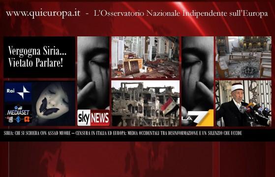 I Media Censurano la Siria