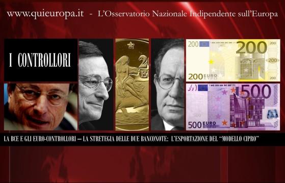 BCE - 500 euro e l'esportazione del Modello Cipro