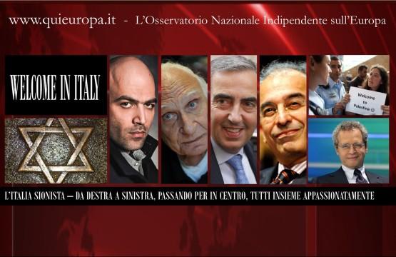 Benvenuti nell'Italia Sionista