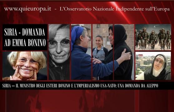 Emma Bonino e L'Imperialismo USA-NATO in Siria - Una Domanda da Aleppo