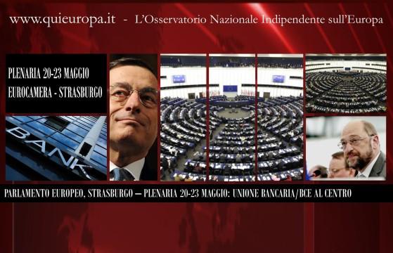 European Parliament - parlamento Europeo - 20-23 Maggio 2013 - Unione Bancaria