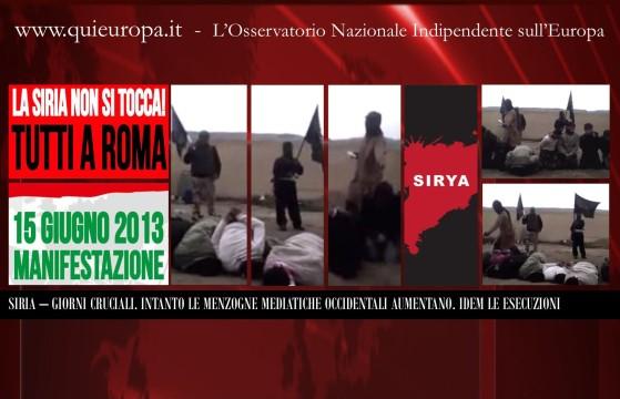 Roma, 15 Giugno - Manifestazione Mondiale per la Pace in Siria
