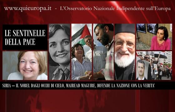 Siria - Sibialiria - Qui Europa - Marinella Correggia - Mairead Maguire