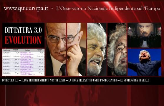 Dittatura 3.0 - Befera Spierà i nostri conti - L'Immobilismo di Beppe Grillo