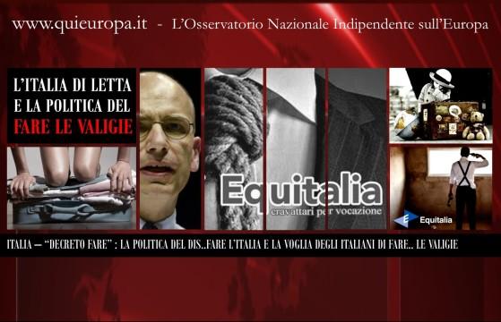 Equitalia - Decreto FARE - Letta