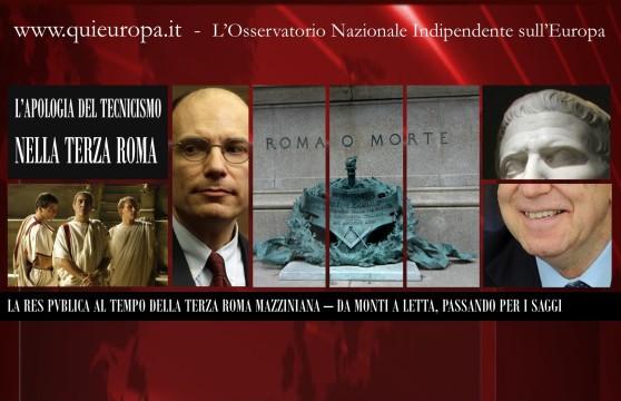 La Repubblica dei Saggi, da Monti a Letta