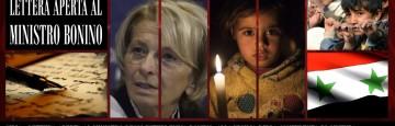 Lettera Aperta al Ministro Emma Bonino - Conferenza di Ginevra