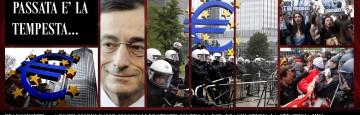 Mario Draghi - EBC Protest