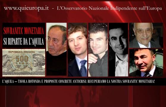 Sovranità Monetaria - Qui Europa - L'Aquila