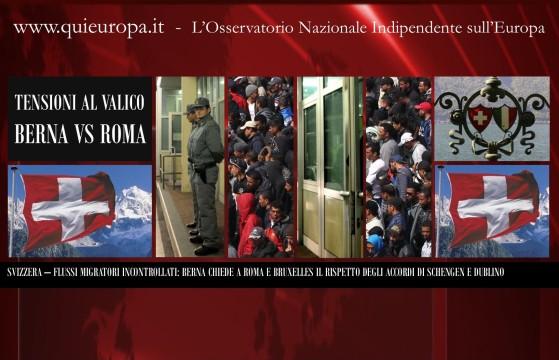 Super Immigrazione - La Svizzera chiede il Rispetto degli Accordi di Schengen e Dublino