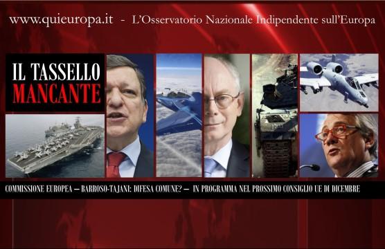 Difesa Comune Ue - Barroso Tajani