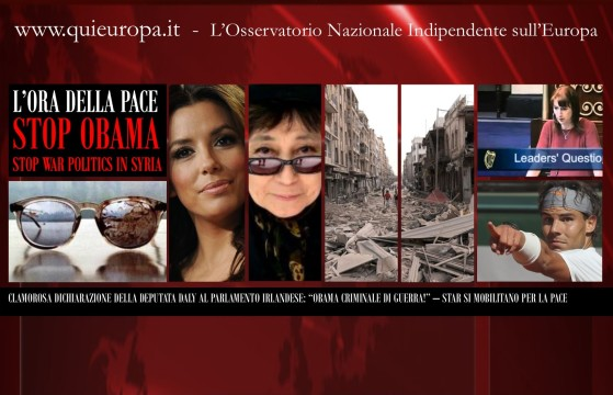 Mobilitation For Peace - Ireland Clare Daly - Eva Longoria - star latine