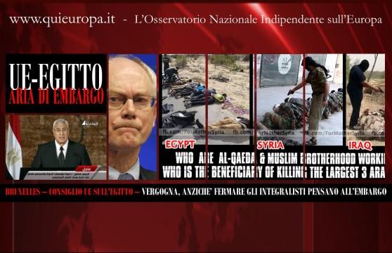 Egitto - Ennesima Vergogna UE
