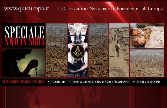 Nuovo Ordine Mondiale in Siria - Testimonianza di Padre Daniel Maes