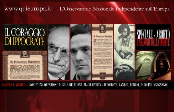 Pasolini, Bobbio, Gandhi, Ippocrate, Contro l'Aborto