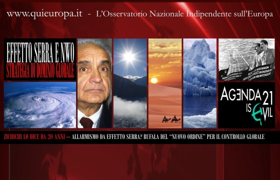 Zichichi e allarmismo da Effetto Serra - Bufala del Nuovo Ordine Mondiale
