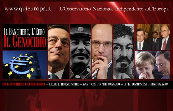 genocidio  italia - draghi - letta