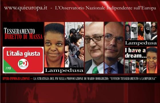 pd - Borghezio - Lampedusa