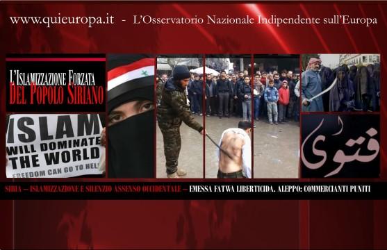islamizzazione forzata della siria