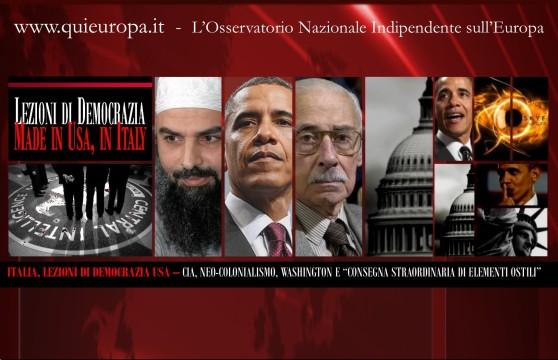 Colonialismo USA - Abu Omar - Prelevamento elementi ostili