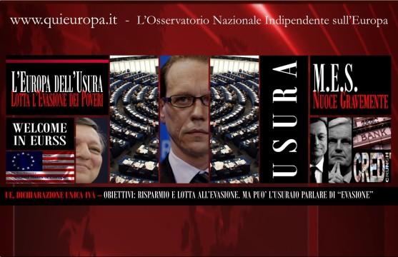 Dichiarazione IVA - dittatura UE