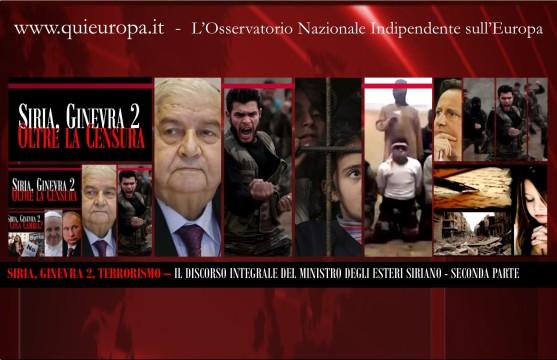 Ginevra 2 - Il Discorso del Ministro degli Esteri Siriano, Censurato - Seconda Parte