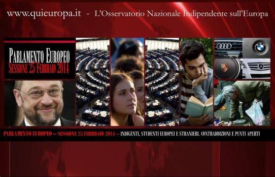 Parlamento Europeo - Sessione 24 Febbraio 2014