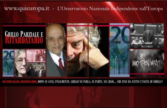 Grillo - Signoraggio - Blog