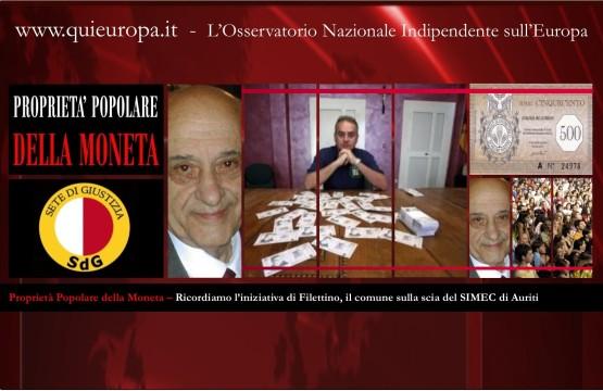 Filettino - proprietà popolare della moneta - SIMEC