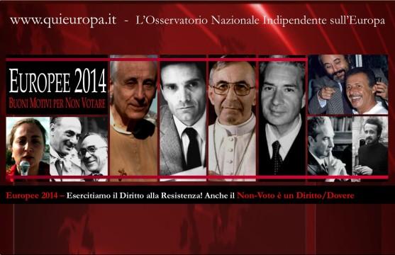 Elezioni europee 2014 - Dossetti e il diritto alla Resistenza - Io non voto