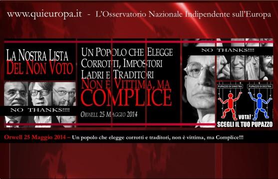Europeismo - Elezioni 2014 - Orwell 25 maggio 2014