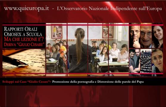 Giulio Cesare - Promozione della pornografia e distorsione delle parole del Papa
