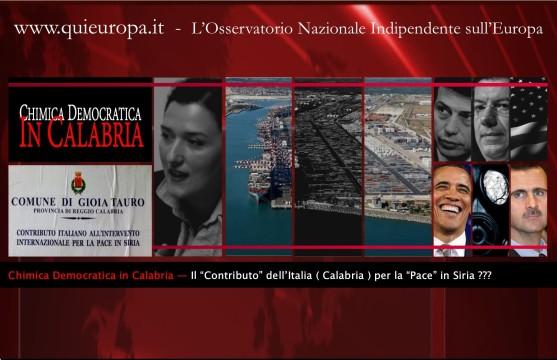 Armi chimiche siriane  Calabria - Porto Gioia Tauro