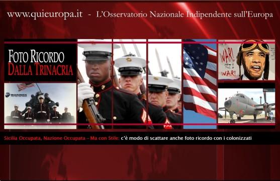 Italia occupata dai Marines - Sicilia - Foto ricordo