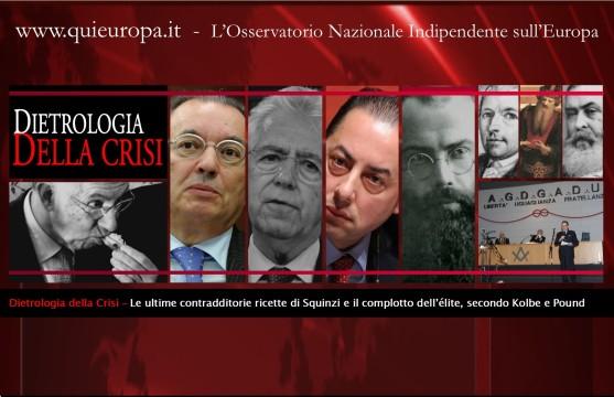 Squinzi - Crisi - Massoneria - Kolbe - Complotto