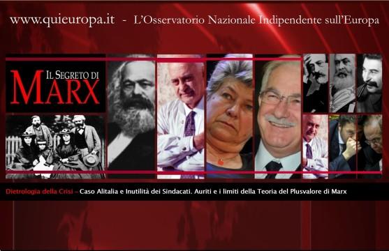 auriti - marx - sindacati - caso alitalia
