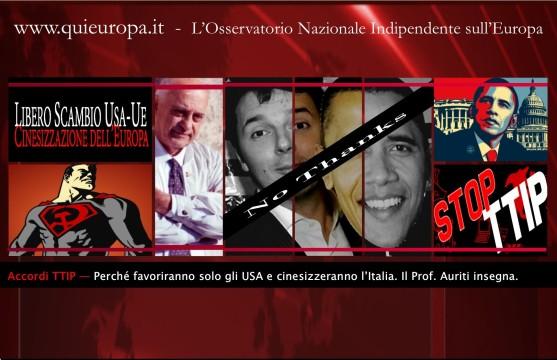 TTIP - Cinesizzazione dell'Italia e dell'Europa - Auriti