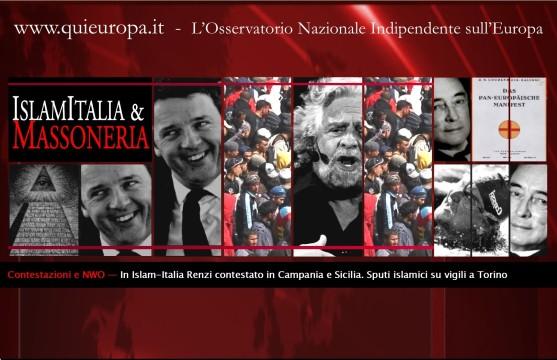 Renzi - Grillo - Nuovo Ordine Mondiale
