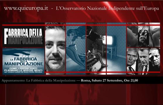 Roma - Gianluca Marletta - La Fabbrica della Manipolazione