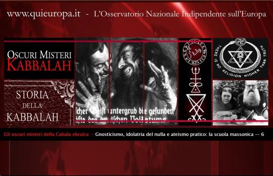 cabala - teosofia - gnosticismo - ateismo pratico
