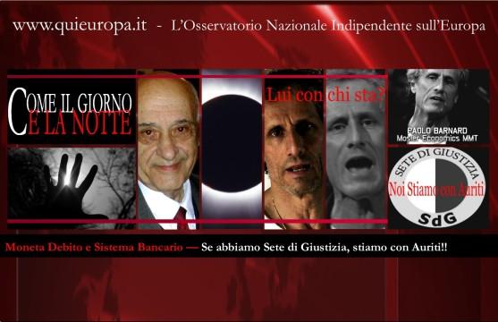 sete di giustizia - Noi stiamo con Giacinto Auriti