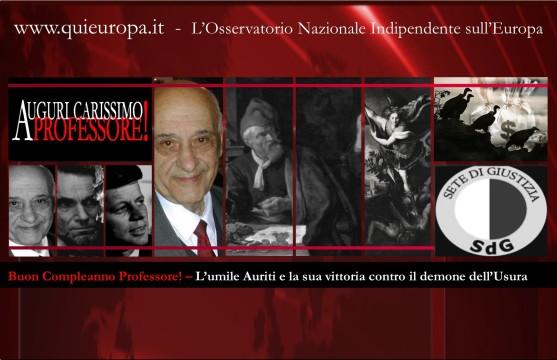 Buon Compleanno Professore - Giacinto Auriti e la sua vittoria contro l'usura